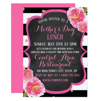 Elegant Mother's Lunch Day Invitation Flat Card