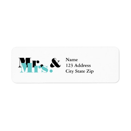 Elegant Mr and Mrs address labels for newly weds
