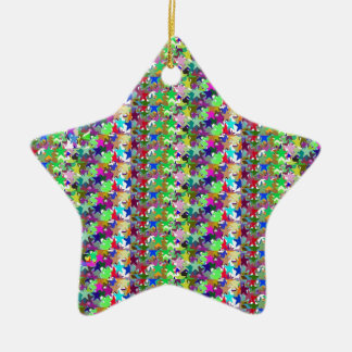 Elegant Multicolor STAR Pattern : Grace n Serenity Christmas Ornaments