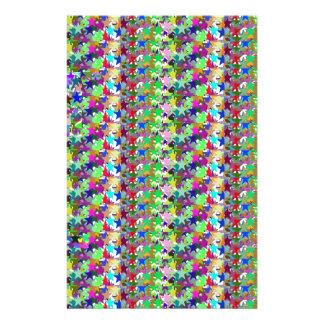 Elegant Multicolor STAR Pattern : Grace n Serenity Stationery Design
