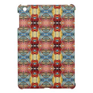 Elegant Multicolored Geometric Abstract Flowers iPad Mini Cases