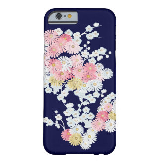 Elegant Mums and Plum Kimono Pattern iPhone 6 Case Barely There iPhone 6 Case