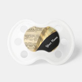 Elegant music sheet baby pacifier
