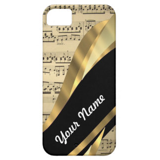 Elegant music sheet barely there iPhone 5 case