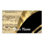 Elegant music sheet business card template