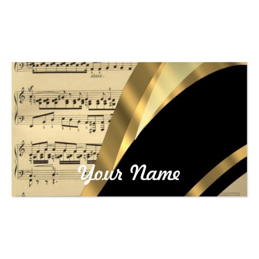Elegant music sheet pack of standard business cards zazzle for Business card sheet template