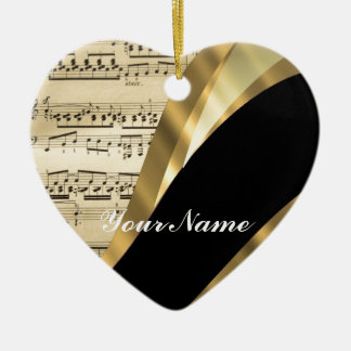 Elegant music sheet christmas ornament