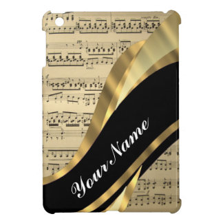 Elegant music sheet iPad mini covers
