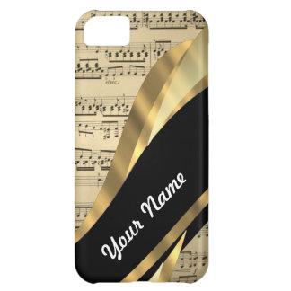 Elegant music sheet iPhone 5C case