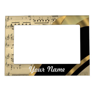 Elegant music sheet magnetic frames