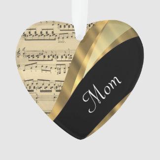 Elegant music sheet mothers day