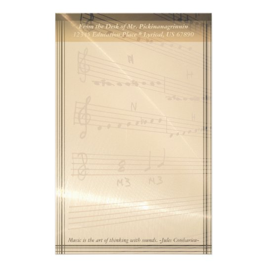 Elegant Music Teacher Haydn Quote Personalised Stationery