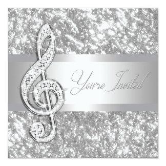 Elegant Music Treble Clef Recital Invitation