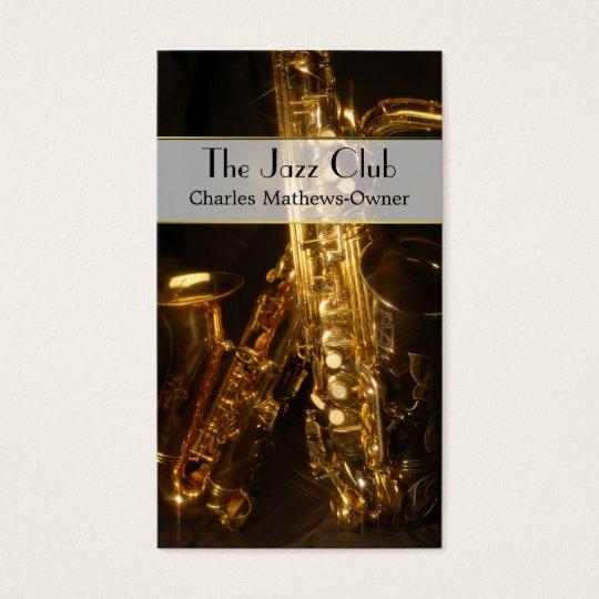 Elegant Musical Jazz Theme Custom Business Card