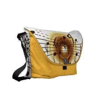 Elegant Musical Note Messenger Bag