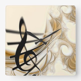 Elegant Musical Note Wall Clock