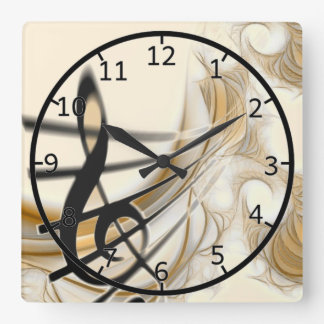 Elegant Musical Note Wallclocks