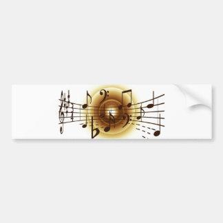 Elegant Musical Notes Bumper Sticker