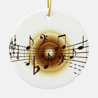 Elegant Musical Notes Christmas Tree Ornaments