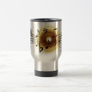 Elegant Musical Notes Travel Mug