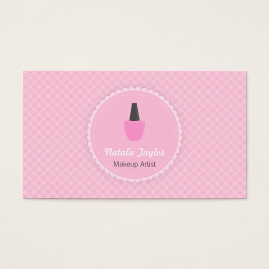 Elegant Nail Polish Makeup Artist Business Cards