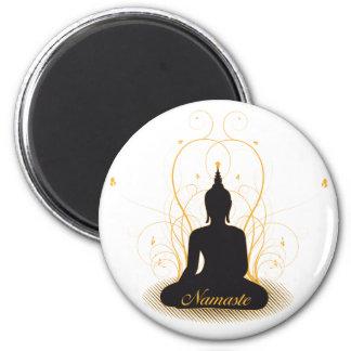 Elegant Namaste Buddha Fridge Magnet