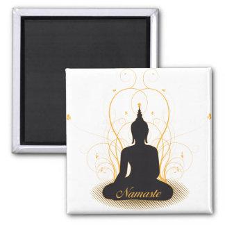 Elegant Namaste Buddha Magnets