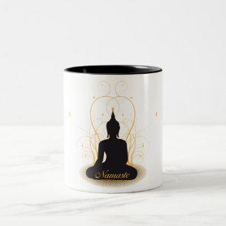 Elegant Namaste Buddha Two-Tone Coffee Mug