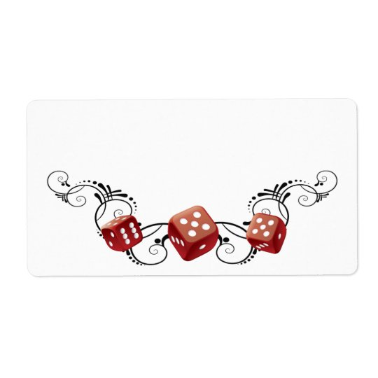 Elegant Name Tag With Dice