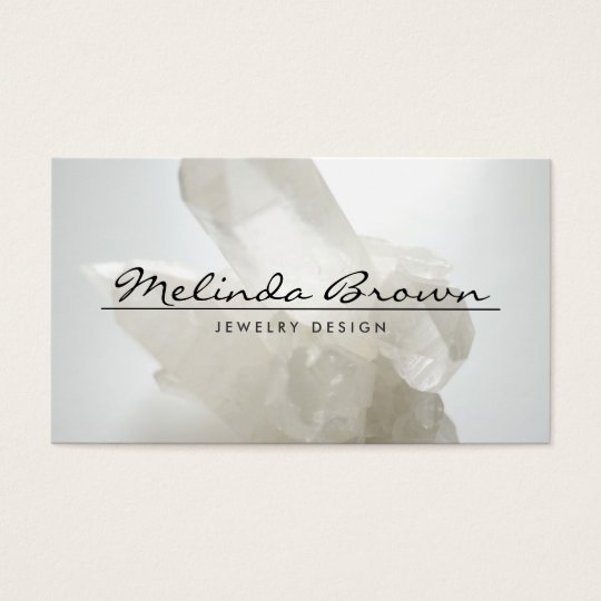 ELEGANT NAME & WHITE QUARTZ CRYSTAL Business Card