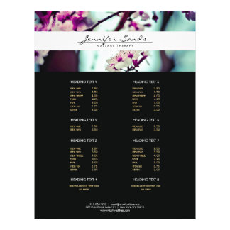 ELEGANT NAME with CHERRY BLOSSOMS Flyer