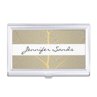 ELEGANT NAME with GOLD TREE PATTERN Card Case