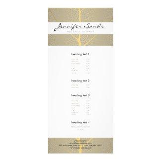 ELEGANT NAME with GOLD TREE PATTERN Rack Card