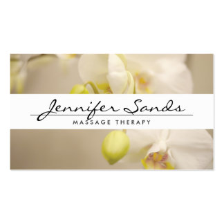 ELEGANT NAME with ORCHIDS Business Card