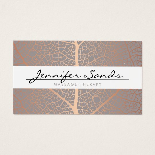 ELEGANT NAME with ROSE GOLD TREE PATTERN Business