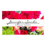 ELEGANT NAME with WATERCOLOR BOUQUET Pack Of Standard Business Cards