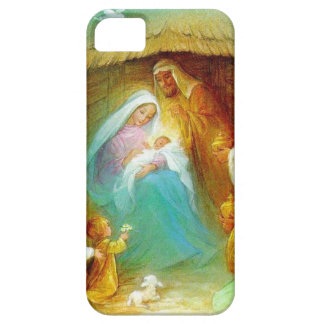 Elegant Nativity scene, Mary Jesus Joseph iPhone 5 Case