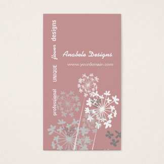 Elegant Nature Spring Summer Garden Flower Business Card
