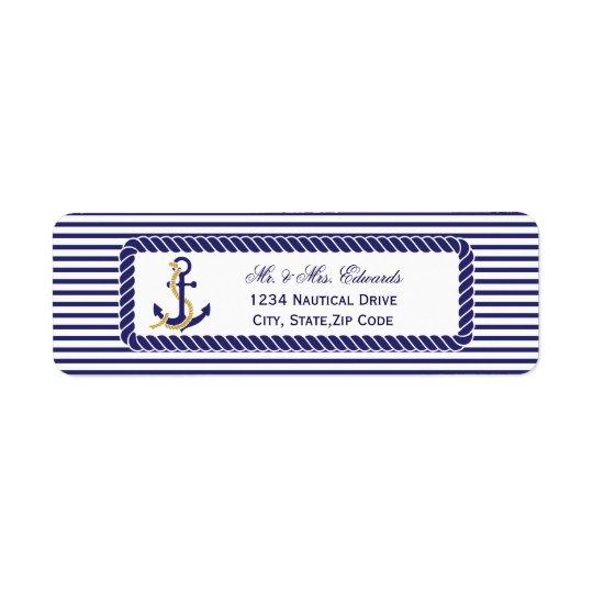 Elegant Nautical Wedding Navy Stripes