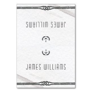 Elegant Nautical Wedding Place Cards Gray White Table Cards
