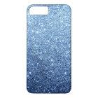 Elegant Navy Blue Glitter Luxury iPhone 8 Plus/7 Plus Case