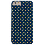 Elegant Navy Blue Gold Glitter Polka Dots Pattern