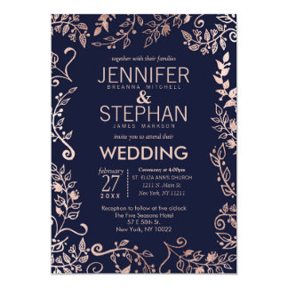 Navy And Gold Wedding Invitations & Announcements   Zazzle.co.uk