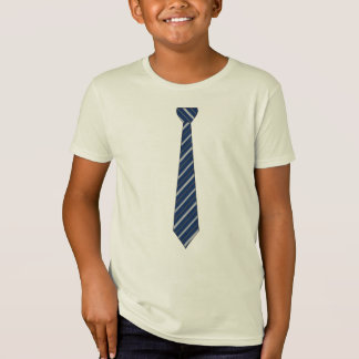 Elegant Navy Blue Stripes Tie T-shirt