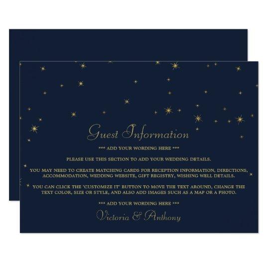 Elegant Navy & Gold Falling Stars Wedding Detail
