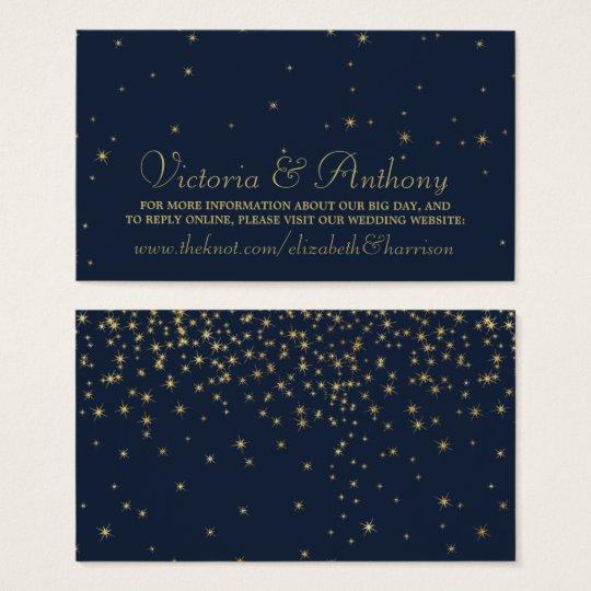 Elegant Navy & Gold Falling Stars Wedding Website