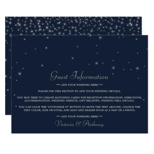 Elegant Navy & Silver Falling Stars Wedding Detail