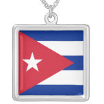 Elegant Necklace with Flag of Cuba