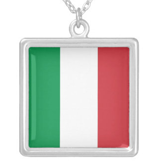 Elegant Necklace with Flag of Italy