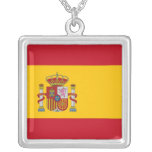 Elegant Necklace with Flag of Spain